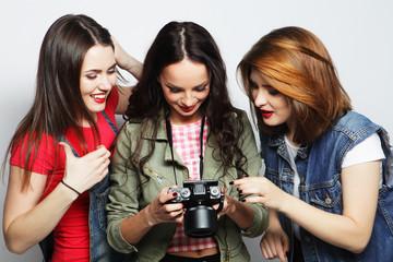 three girls looking at camera