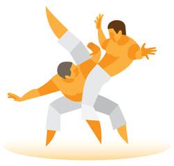 Brazilian fight.capoeira