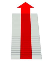 merdivende kırmızı halı