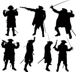 pirate silhouettes