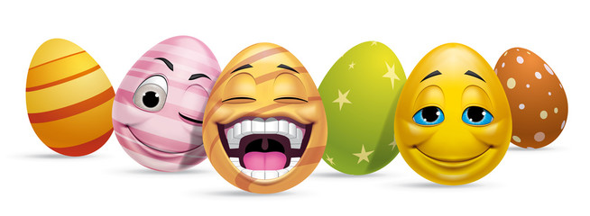 Ggroup of Easter eggs characters