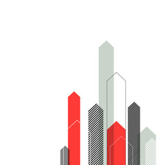 Stylized Arrows to Up. For Cover Book, Brochure, Annual Report e