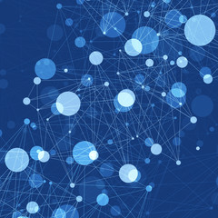 Abstract Blue Communications Concept Background