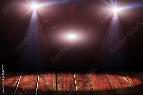 Fotobehang Licht, schaduw Light on wooden