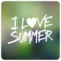 Love Summer Card Design