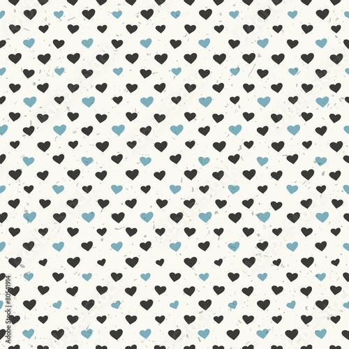 Seamless hearts pattern textured - 80541914