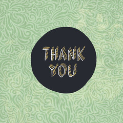 "Vintage ""Thank You"" Card Template"