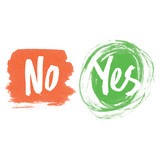 Fototapety Yes and No