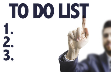 Business man pointing the text: To Do List