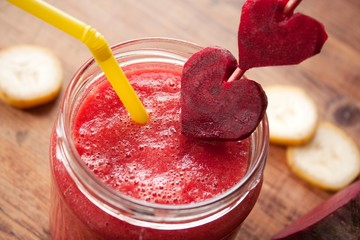 Rote Beete Bananen Smoothie