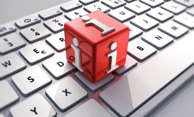 Info-Würfel auf Tastatur