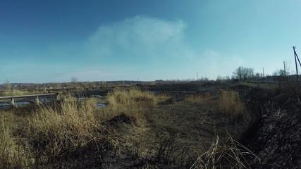 Ash dump thermal station