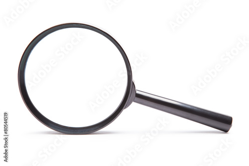 magnifying glass on white background - 80544519