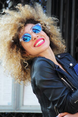 happyness afro girl
