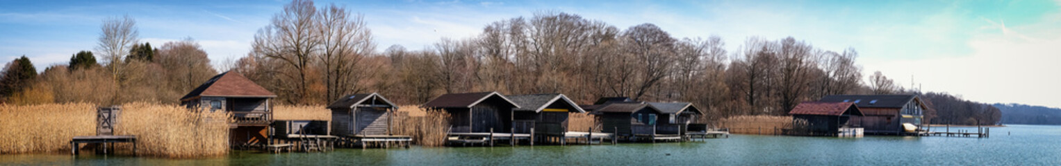 old wooden boathouses