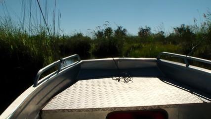 Boat trip canal okavango delta Botswana Africa
