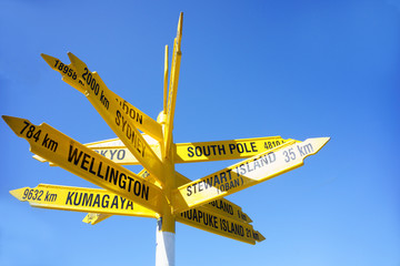 Signpost to the world, Bluff.