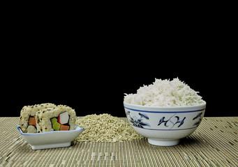 Natural Organic Raw and Brown Rice Sushi