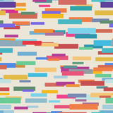 Colorful abstract pattern from rectangle shape. Seamless vector