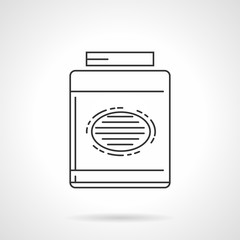 Black line vector icon for gainer supplements