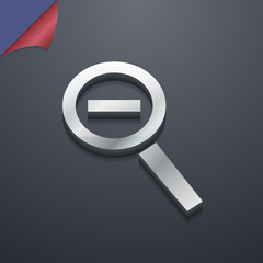 Magnifier glass, Zoom tool icon symbol. 3D style. Trendy, modern
