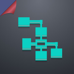 Local Network icon symbol. 3D style. Trendy, modern design with