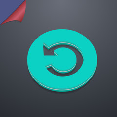 icon symbol. 3D style. Trendy, modern design with space for your