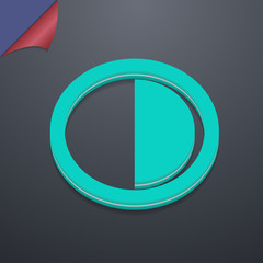 contrast icon symbol. 3D style. Trendy, modern design with space