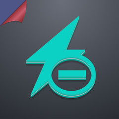 Photo flash icon symbol. 3D style. Trendy, modern design with sp