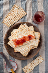 Matzah  with Preserves - Unleavened Bread for Passover