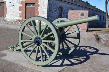 Antique cannon in Lappeenranta.
