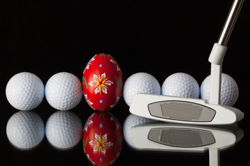 Golf equipments and egg