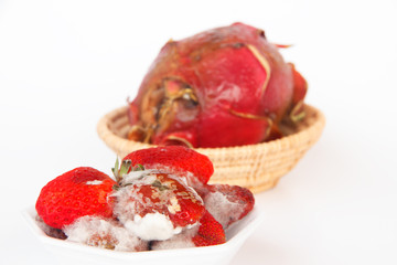 Aged Strawberry - Stock Image