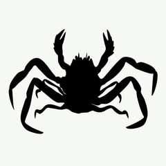 vector crab silhouettes