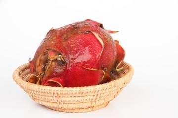 Rotten dragon fruit - Stock Image