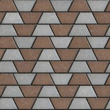 Gray-Brown Paving Slabs in the Form Trapezoids. poster