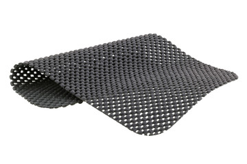 Gray anti slip mat isolated on white background
