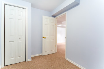 Empty basement room