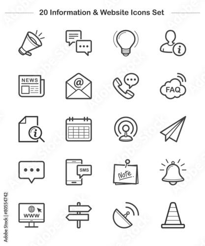 Line icon - Information & Website, Bold - 80554742