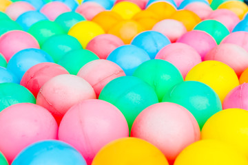 colorful plastic balls background