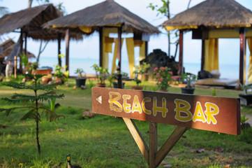 Beach bar sign