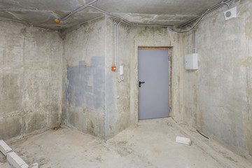 Being renovated house, apartment, entrance door