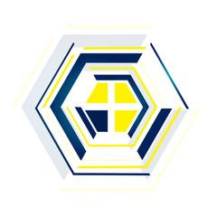 technology Hexagon vector