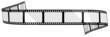 Leinwanddruck Bild - Blank film banner
