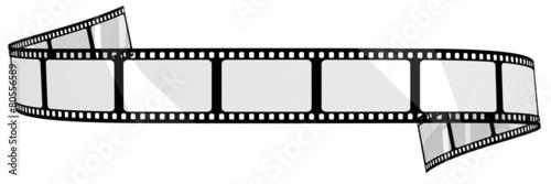 Leinwanddruck Bild Blank film banner