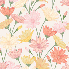 Seamless pattern with flower.