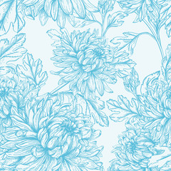 Veamless floral pattern.