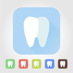 Pretty flat tooth icon