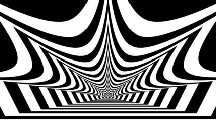 Concentric oncoming abstract symbol, crown - optical illusion