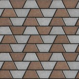Brown-Gray Paving Slabs in the Form Trapezoids. poster